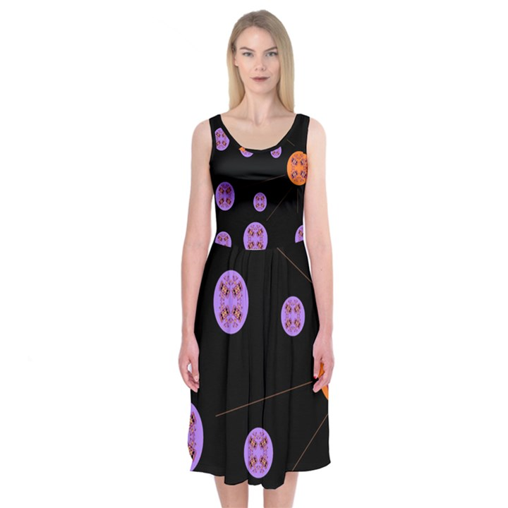 Alphabet Shirtjhjervbret (2)fvgbgnh Midi Sleeveless Dress
