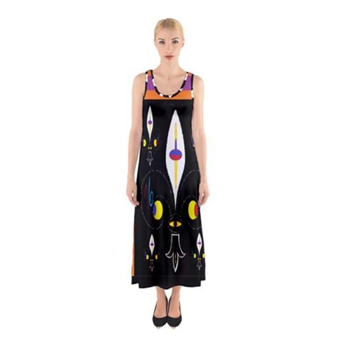 Flower F D L Sleeveless Maxi Dress