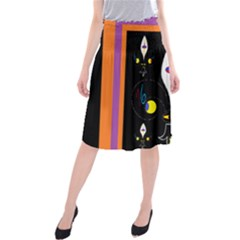 Flower F D L Midi Beach Skirt