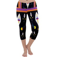 Flower F D L Capri Yoga Leggings