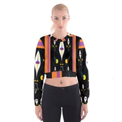 Flower F D L Women s Cropped Sweatshirt