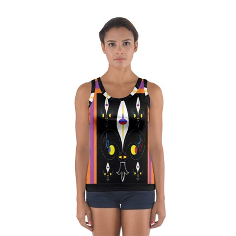 Flower F D L Women s Sport Tank Top