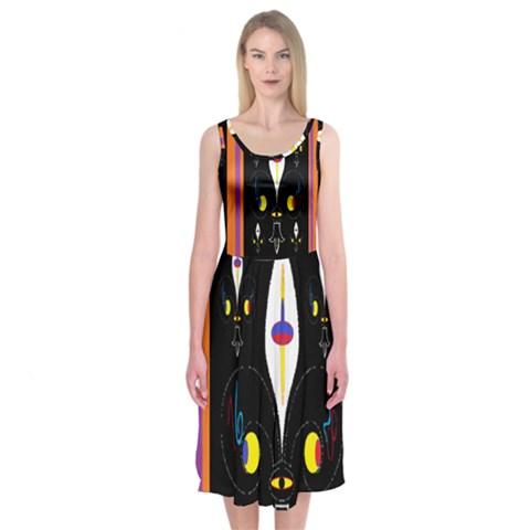 Flower F D L Midi Sleeveless Dress