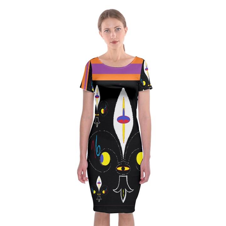 Flower F D L Classic Short Sleeve Midi Dress