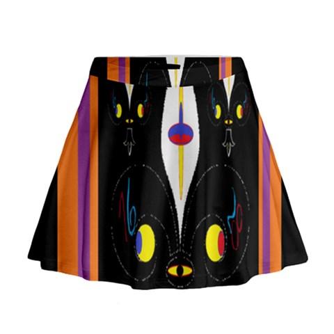 Flower F D L Mini Flare Skirt