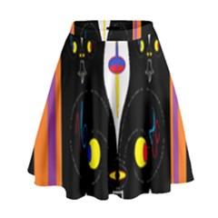 Flower F D L High Waist Skirt