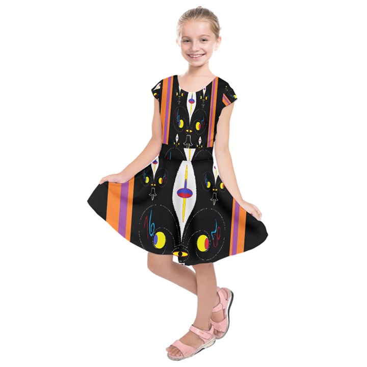 Flower F D L Kids  Short Sleeve Dress