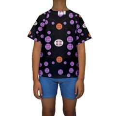 Alphabet Shirtjhjervbret (2)fvgbgnhll Kids  Short Sleeve Swimwear