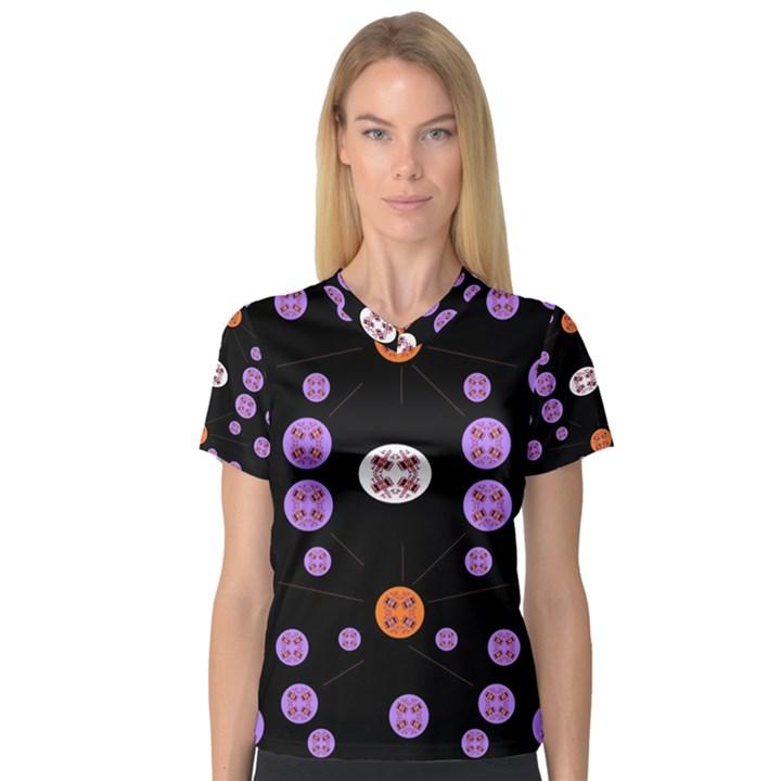 Alphabet Shirtjhjervbret (2)fvgbgnhll Women s V-Neck Sport Mesh Tee