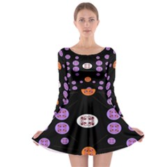 Alphabet Shirtjhjervbret (2)fvgbgnhll Long Sleeve Skater Dress