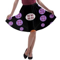 Alphabet Shirtjhjervbret (2)fvgbgnhll A-line Skater Skirt