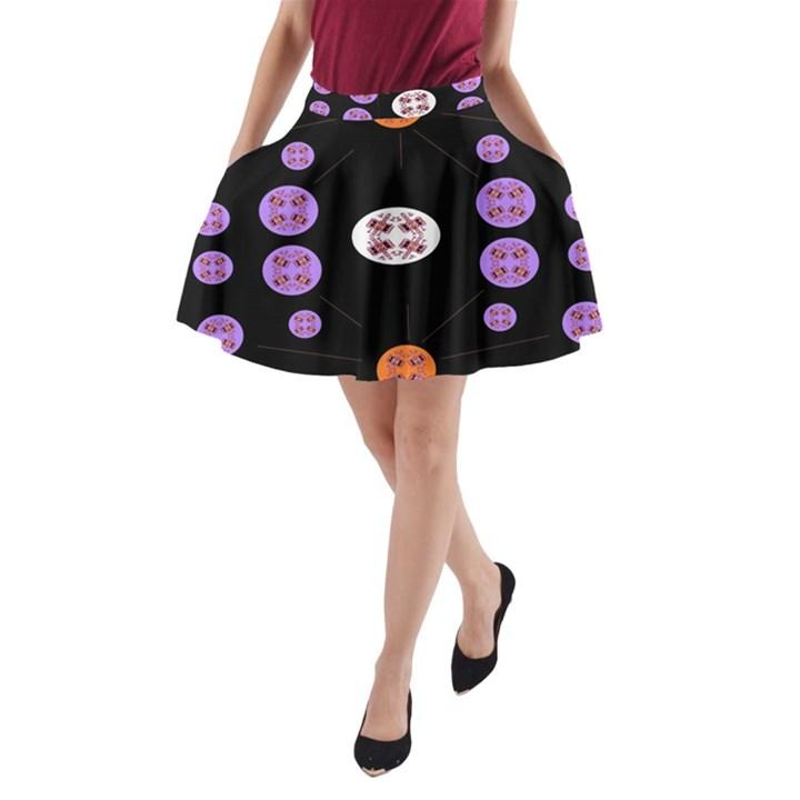 Alphabet Shirtjhjervbret (2)fvgbgnhll A-Line Pocket Skirt