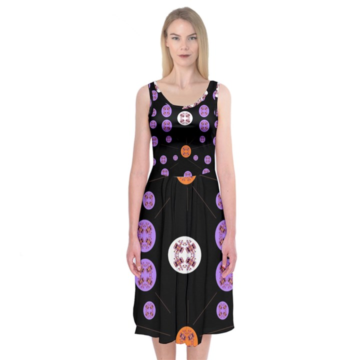 Alphabet Shirtjhjervbret (2)fvgbgnhll Midi Sleeveless Dress