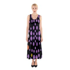 Alphabet Shirtjhjervbret (2)fvgbgnhllhn Sleeveless Maxi Dress