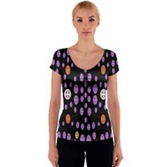 Alphabet Shirtjhjervbret (2)fvgbgnhllhn Women s V-Neck Cap Sleeve Top