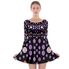 Alphabet Shirtjhjervbret (2)fvgbgnhllhn Long Sleeve Skater Dress