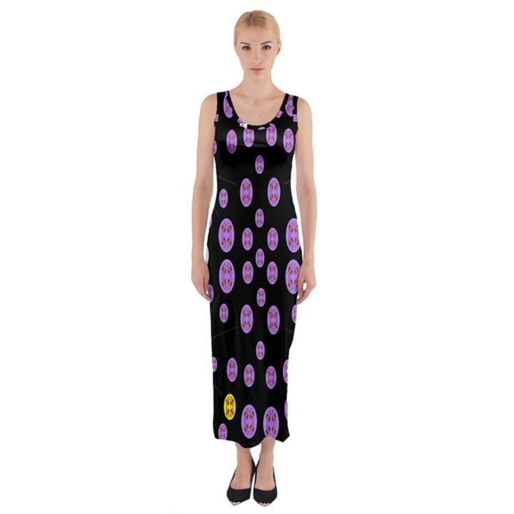 Alphabet Shirtjhjervbret (2)fvgbgnhllhn Fitted Maxi Dress