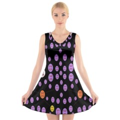 Alphabet Shirtjhjervbret (2)fvgbgnhllhn V-Neck Sleeveless Skater Dress