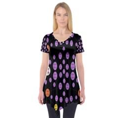 Alphabet Shirtjhjervbret (2)fvgbgnhllhn Short Sleeve Tunic