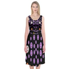 Alphabet Shirtjhjervbret (2)fvgbgnhllhn Midi Sleeveless Dress