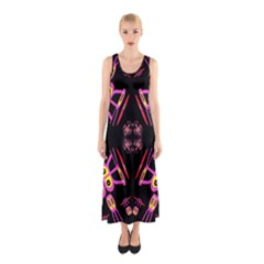 Alphabet Shirtjhjervbret (2)fv Sleeveless Maxi Dress