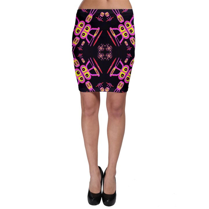 Alphabet Shirtjhjervbret (2)fv Bodycon Skirt