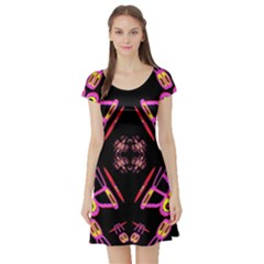 Alphabet Shirtjhjervbret (2)fv Short Sleeve Skater Dress