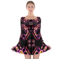 Alphabet Shirtjhjervbret (2)fv Long Sleeve Skater Dress