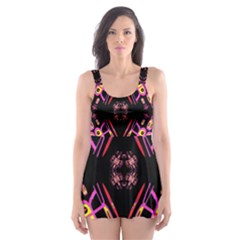 Alphabet Shirtjhjervbret (2)fv Skater Dress Swimsuit