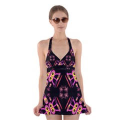 Alphabet Shirtjhjervbret (2)fv Halter Swimsuit Dress