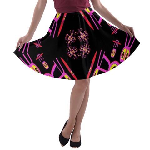 Alphabet Shirtjhjervbret (2)fv A-line Skater Skirt
