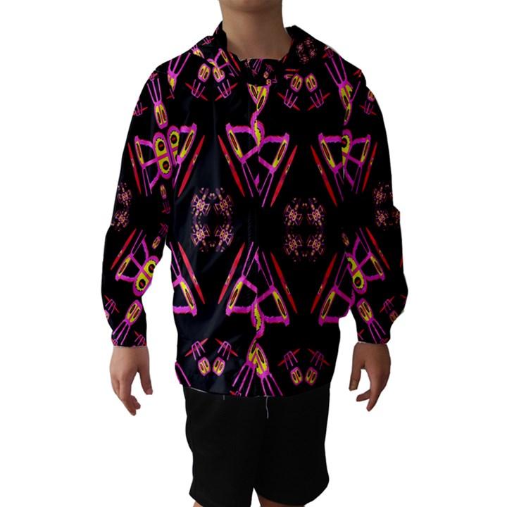 Alphabet Shirtjhjervbret (2)fv Hooded Wind Breaker (Kids)