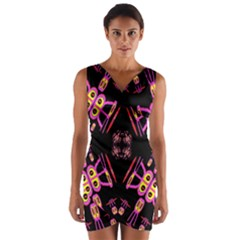 Alphabet Shirtjhjervbret (2)fv Wrap Front Bodycon Dress