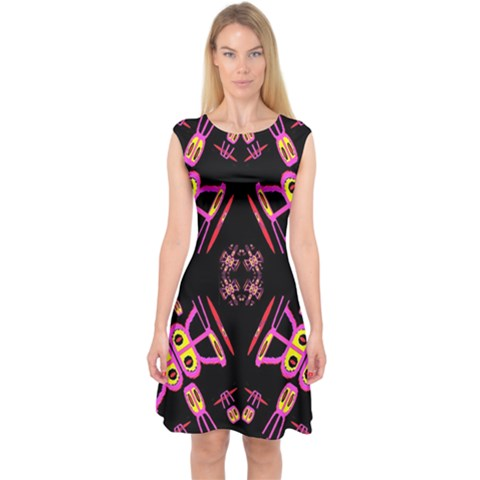 Alphabet Shirtjhjervbret (2)fv Capsleeve Midi Dress