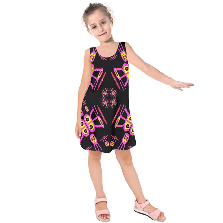 Alphabet Shirtjhjervbret (2)fv Kids  Sleeveless Dress