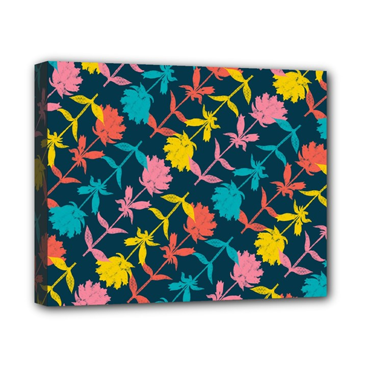 Colorful Floral Pattern Canvas 10  x 8