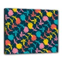 Colorful Floral Pattern Canvas 20  x 16  View1