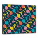 Colorful Floral Pattern Canvas 24  x 20  View1
