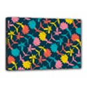Colorful Floral Pattern Canvas 18  x 12  View1