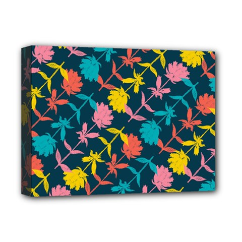 Colorful Floral Pattern Deluxe Canvas 16  x 12