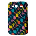 Colorful Floral Pattern HTC Wildfire S A510e Hardshell Case View3