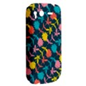 Colorful Floral Pattern HTC Desire S Hardshell Case View2
