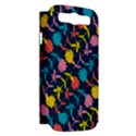 Colorful Floral Pattern Samsung Galaxy S III Hardshell Case (PC+Silicone) View2