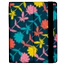 Colorful Floral Pattern Apple iPad 2 Flip Case View2