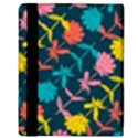 Colorful Floral Pattern Apple iPad 2 Flip Case View3