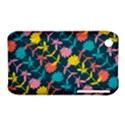 Colorful Floral Pattern Apple iPhone 3G/3GS Hardshell Case (PC+Silicone) View1