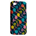 Colorful Floral Pattern Apple iPhone 4/4S Hardshell Case (PC+Silicone) View2