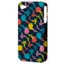 Colorful Floral Pattern Apple iPhone 4/4S Hardshell Case (PC+Silicone) View3