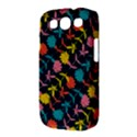 Colorful Floral Pattern Samsung Galaxy S III Classic Hardshell Case (PC+Silicone) View3