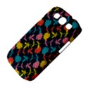 Colorful Floral Pattern Samsung Galaxy S III Classic Hardshell Case (PC+Silicone) View4